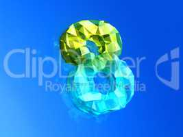 Yellow- blue eight as precious Cristal