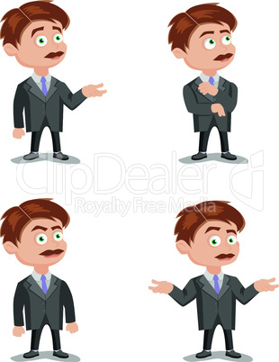 Funny Scientist Or Professor Cartoon Characters. Set Vector Collection