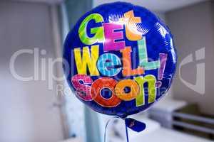 Get well soon balloon in hospital