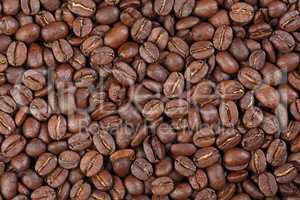 Texture of Colombia Supremo (gourmet coffee).