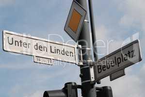 Street sign in Berlin Germany