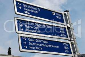 Tourist sign in Berlin Germany