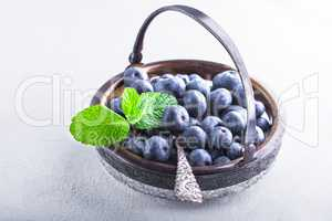 Fresh Blueberries and mint