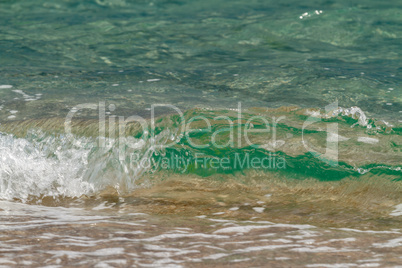 Seascape with rolling wave