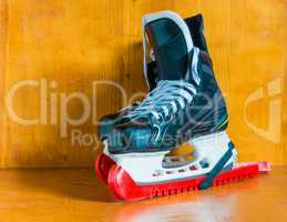 Professional hockey skates with protective covers covers
