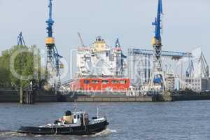 Werft in Hamburg, Deutschland