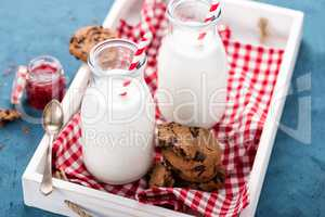 Drinking yogurt in bottles