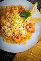 Indian Biryani with Shrimp