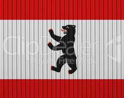 Fahne von Berlin auf Textur