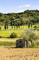 Varied landscape of Tuscany