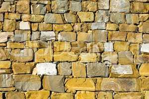 Natural stone wall in Tuscany