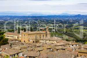 Details of the tourist town of San Gimignano in Tuscany