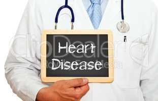 Heart Disease - Doctor with chalkboard