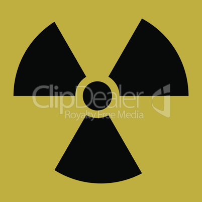The radiation vector icon. Radiation symbol.