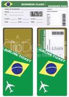 Plane ticket in business class flight to Brazil