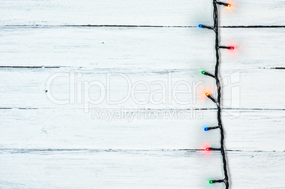 New Year's electric garland with colored lights