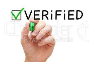 Verified Green Check Mark Concept