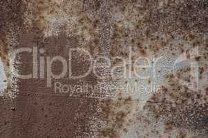 Texture of brown rusty metal