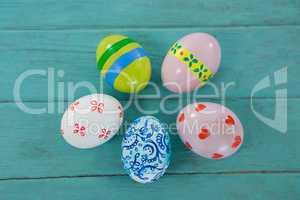 Multicolored Easter eggs