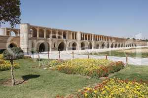 Si-o-se Brücke, Isfahan, Iran, Asien