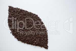 Coffee beans forming eye shape