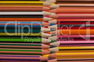 Colored pencils arranged in interlock pattern