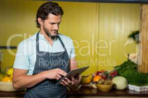 Shop assistant using digital tablet