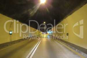 Mountain auto tunnel from Bar to Podgorica