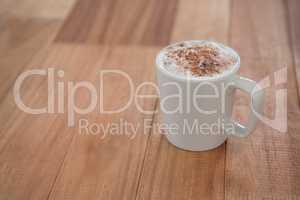 Coffee served in white mug
