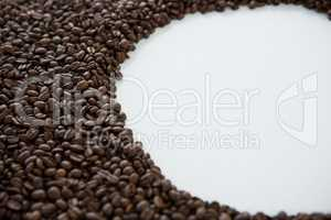 Coffee beans forming shape