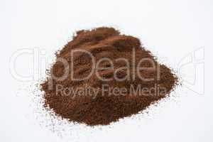Pile of coffee powder