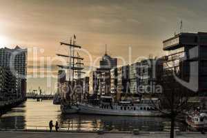 Hafencity Hamburg- Sonnenuntergang
