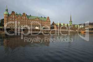 View on Stock Exchange over the channel in Copenhagen, Denmark