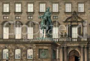 The equestrian statue of King Frederik VII