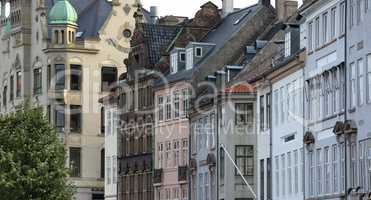 Copenhagen historical city center view