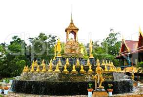 Pagoda,Thai Temple,Samut Songkhram In Thailand.