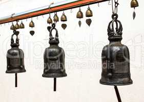 Temple bells hanged for everyone to ringed them for their own fo