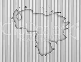 Karte von Venezuela Wellblech