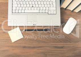 Laptop on desk header