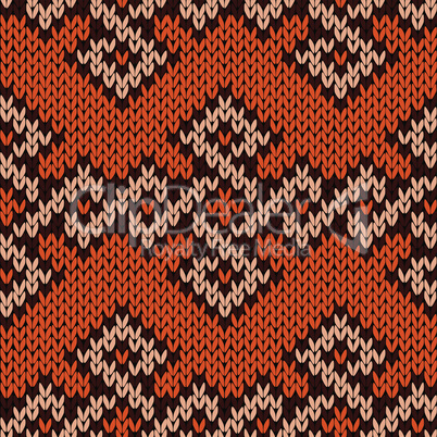 Ornate knitting seamless pattern
