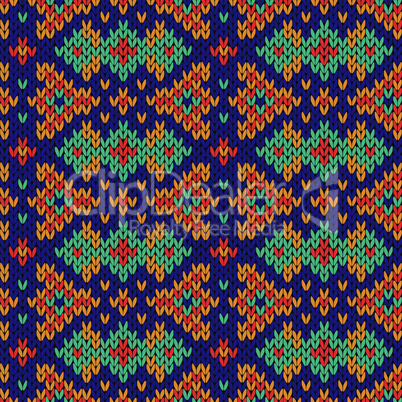 Ornate knitting seamless motley pattern