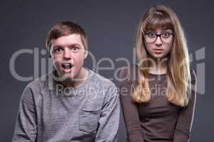 Portrait of amazing teenage couple