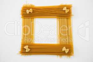 Farfalle and spaghetti pasta forming frame