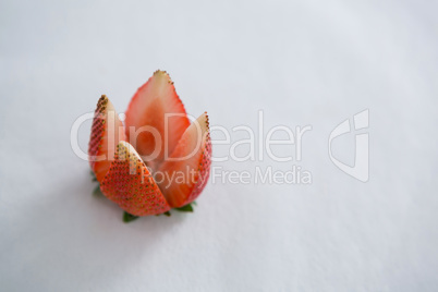 Close-up of strawberry cut in a flower shape