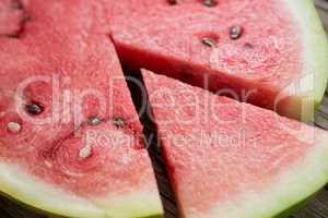 Piece of watermelon separated from slice