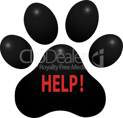pet animal paw care logo template, vector illustration concept for animal business services