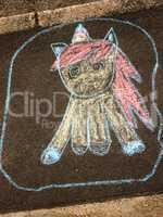 Street Art von einem Kind