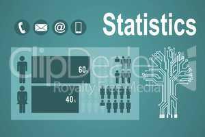Composite image of population comparison
