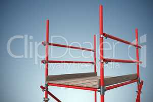 Composite image of three dimension image of red scaffolding