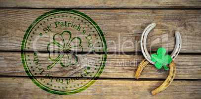 Composite image of composite image of st patrick day with flower symbol
